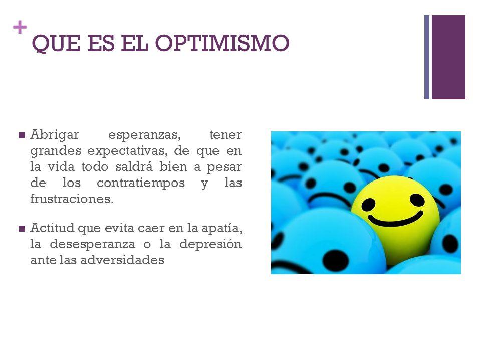 + El poder del pensamiento positivo LA ESPERANZA Vs ANSIEDAD Optimismo Flujo Aprendizaje y Flujo