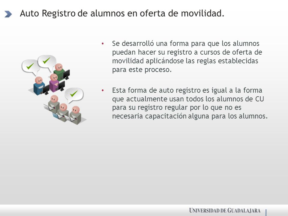 Auto Registro de alumnos en oferta de movilidad.
