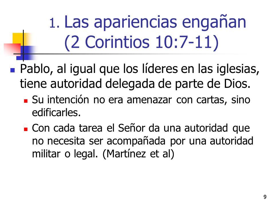 20 4.La mejor recomendación (2 Corintios 10:17-18)