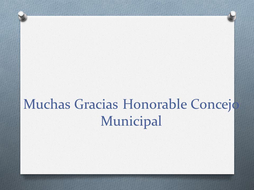 Muchas Gracias Honorable Concejo Municipal