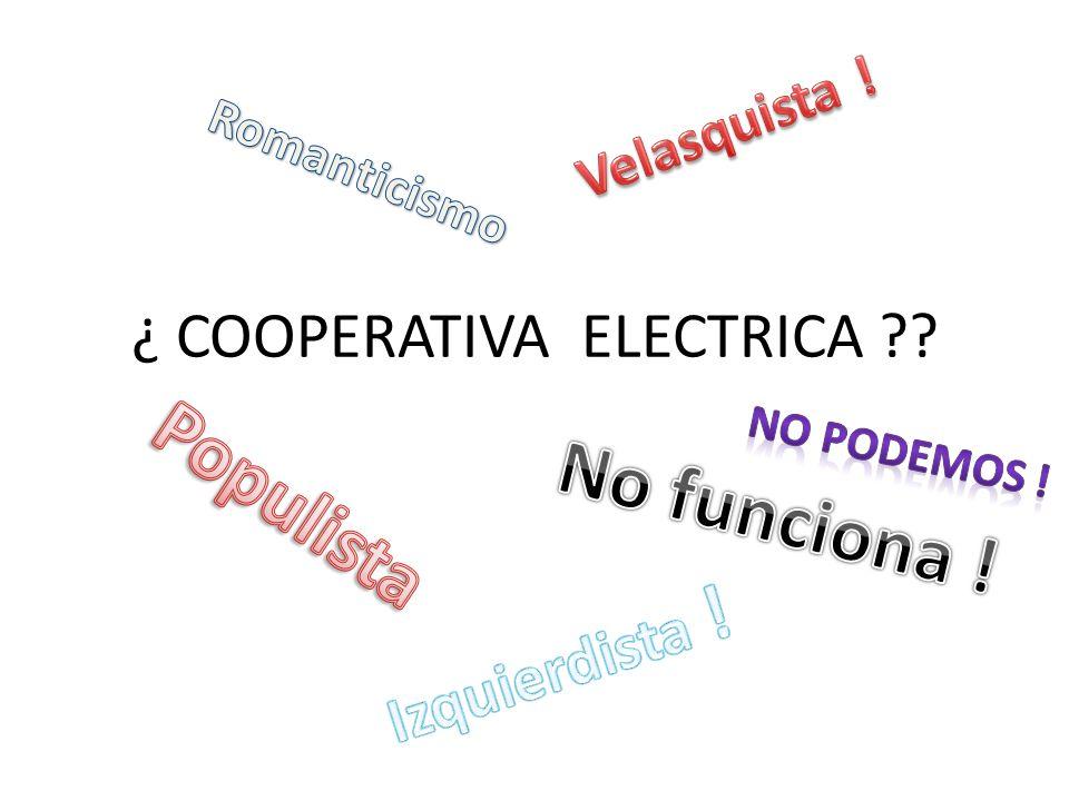 Qué es una Cooperativa Eléctrica ?