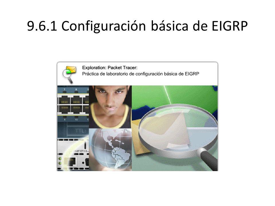 9.6.1 Configuración básica de EIGRP