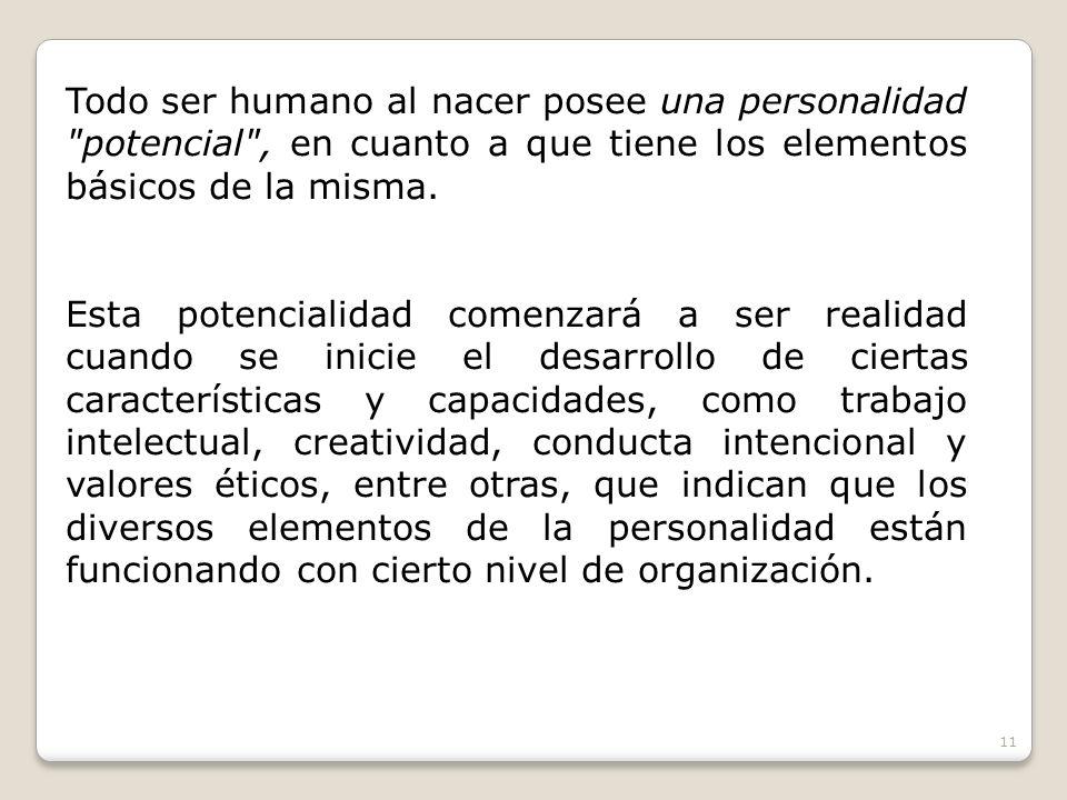 Todo ser humano al nacer posee una personalidad
