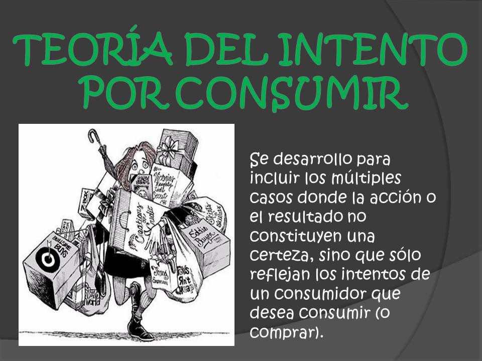 Se desarrollo para incluir los múltiples casos donde la acción o el resultado no constituyen una certeza, sino que sólo reflejan los intentos de un consumidor que desea consumir (o comprar).