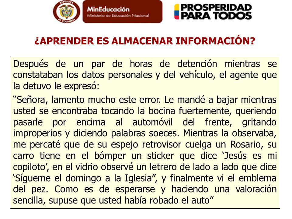 Después de un par de horas de detención mientras se constataban los datos personales y del vehículo, el agente que la detuvo le expresó: Señora, lamen