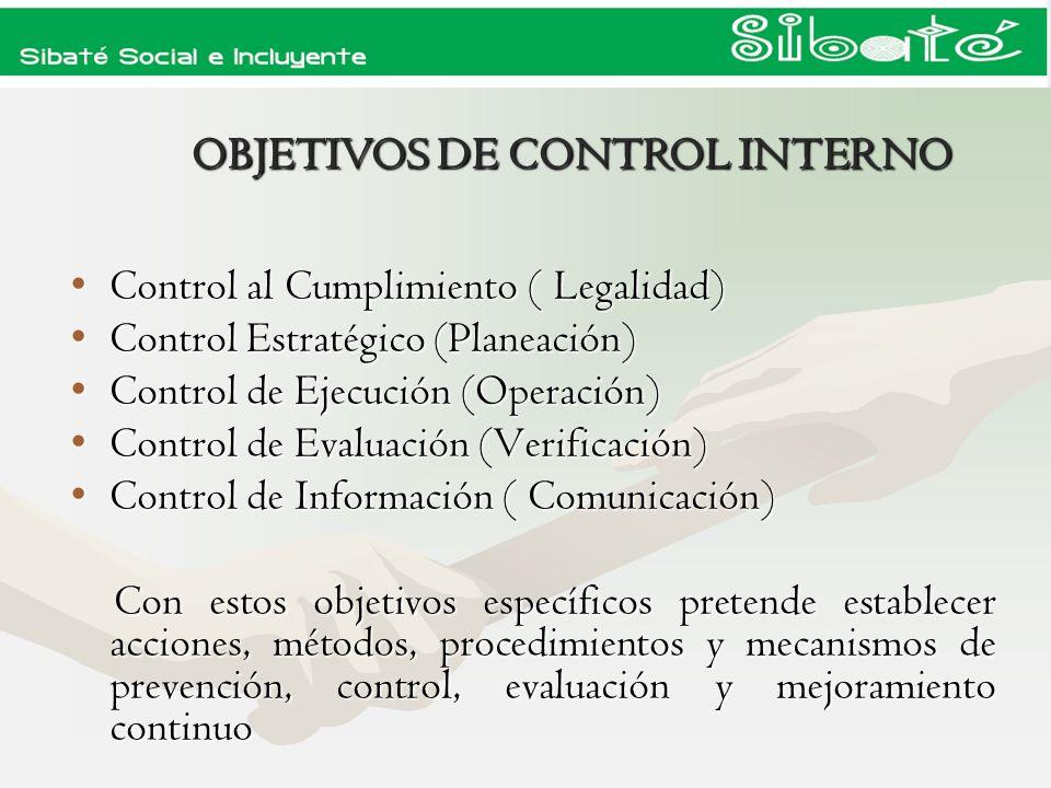 I- Proceso de Implementación MECI II- Proceso de Auditorias Internas III- Rendición de Informes a los Entes de Control PLANES DE ACCION DE CONTROL INTERNO
