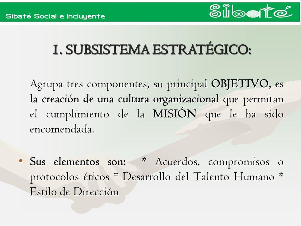 1.1 COMPONENTE AMBIENTE DE CONTROL CODIGO DE ETICA Y BUEN GOBIERNO Instaurar la cultura de los PRINCIPIOS ETICOS, de la AUTO GESTION, el AUTO CONTROL y la AUTO EVALUACION en el desempeño de la gestión pública, mediante la apropiación del Código de Ética, el Código de Buen Gobierno y la adopción individual e institucional de los lineamientos del Plan de Desarrollo Municipal 2008 - 2011, para garantizar la gobernabilidad y generar los ambientes propicios de trabajo y convivencia, adoptado por los decretos municipales 105 y 106 de 2009.