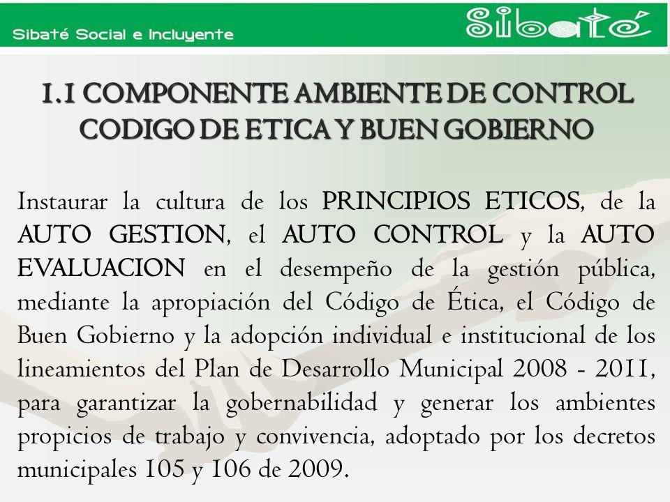 ELEMENTOPRODUCTO 1.Acuerdos, Compromisos y Protocolos Éticos DM 038/05 Adopción del Código de Ética, Se modifico DM 105/09 y se adopta cód.
