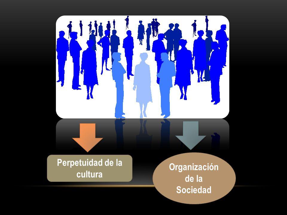 Perpetuidad de la cultura Organización de la Sociedad