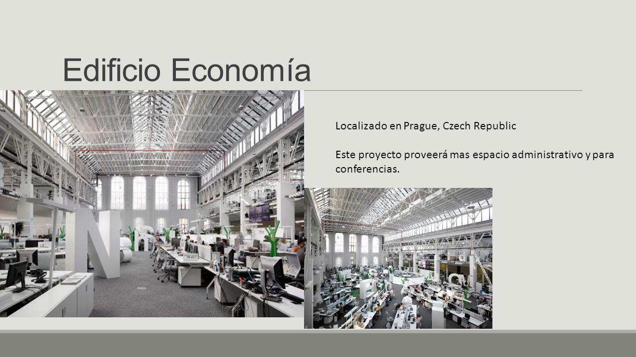Edificio Economía Localizado en Prague, Czech Republic Este proyecto proveerá mas espacio administrativo y para conferencias.