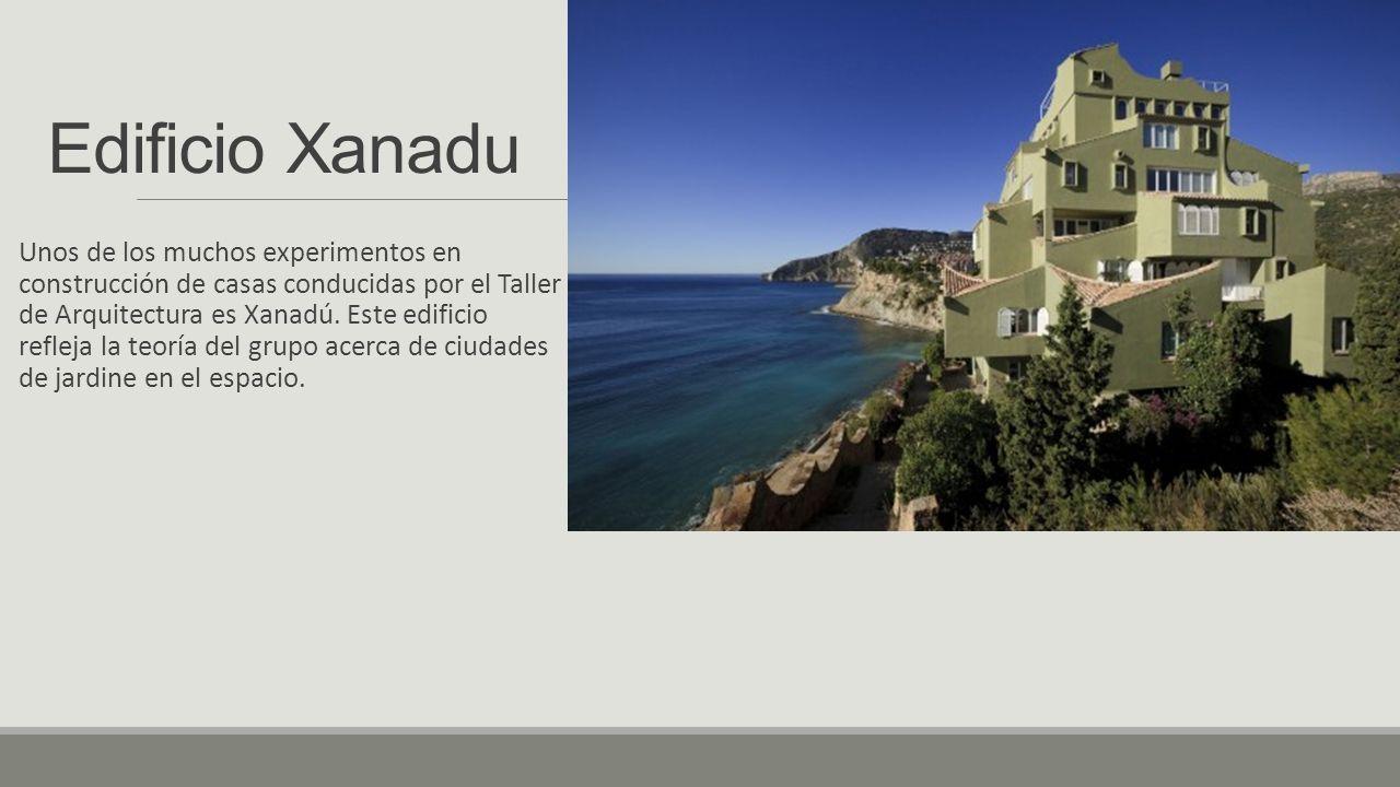 Edificio Xanadu Unos de los muchos experimentos en construcción de casas conducidas por el Taller de Arquitectura es Xanadú.
