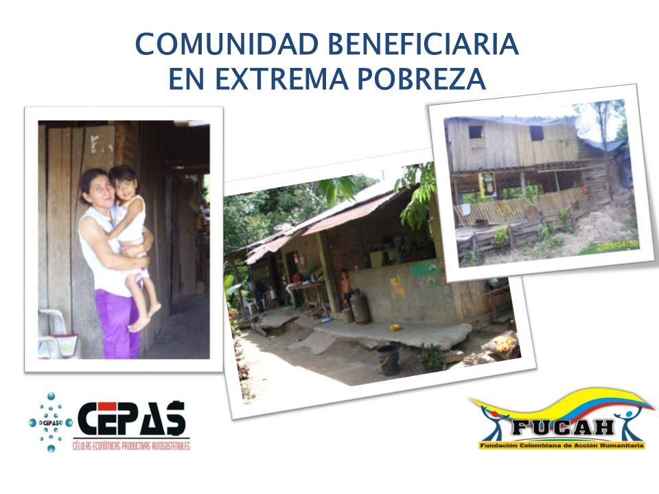 COMUNIDAD BENEFICIARIA EN EXTREMA POBREZA