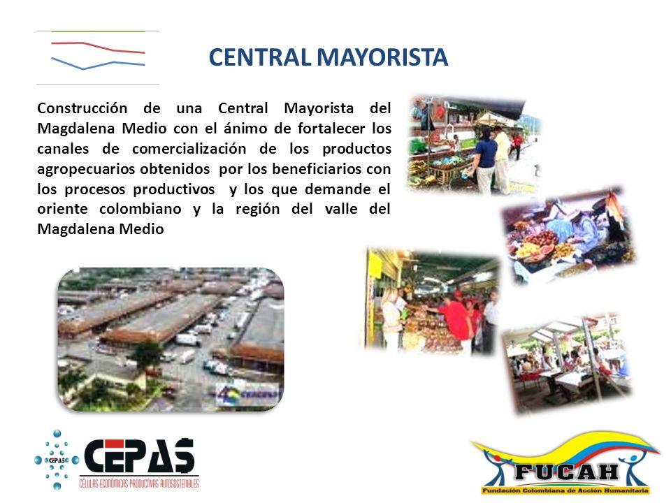 Construcción de una Central Mayorista del Magdalena Medio con el ánimo de fortalecer los canales de comercialización de los productos agropecuarios ob