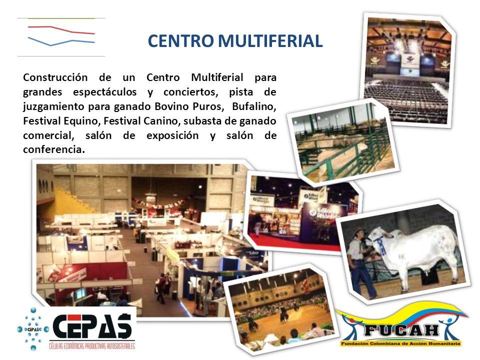 Construcción de un Centro Multiferial para grandes espectáculos y conciertos, pista de juzgamiento para ganado Bovino Puros, Bufalino, Festival Equino
