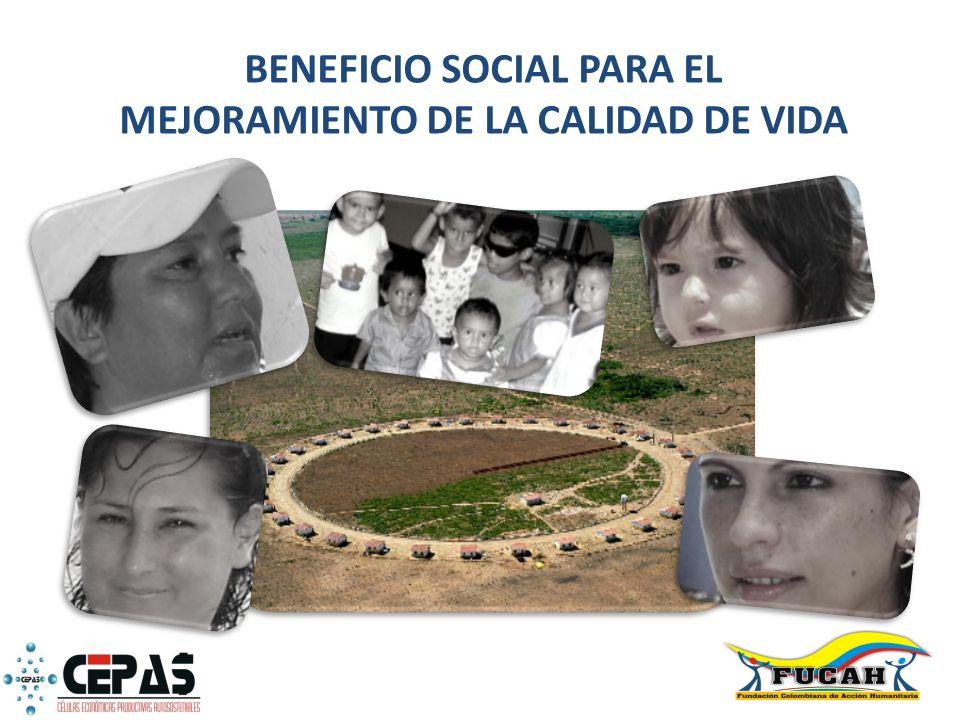 BENEFICIO SOCIAL PARA EL MEJORAMIENTO DE LA CALIDAD DE VIDA
