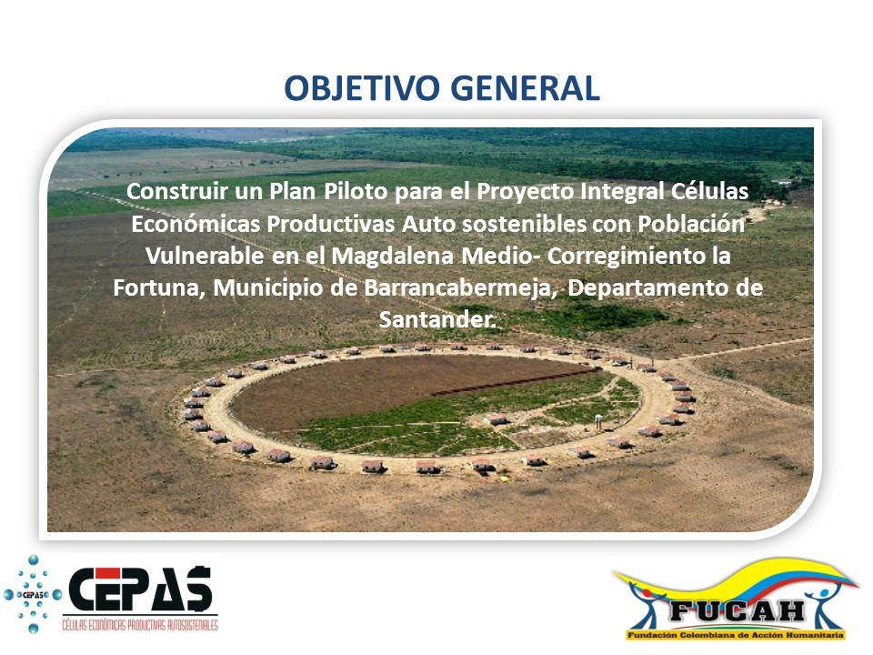 Construir un Plan Piloto para el Proyecto Integral Células Económicas Productivas Auto sostenibles con Población Vulnerable en el Magdalena Medio- Cor