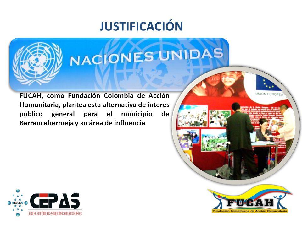 FUCAH, como Fundación Colombia de Acción Humanitaria, plantea esta alternativa de interés publico general para el municipio de Barrancabermeja y su ár