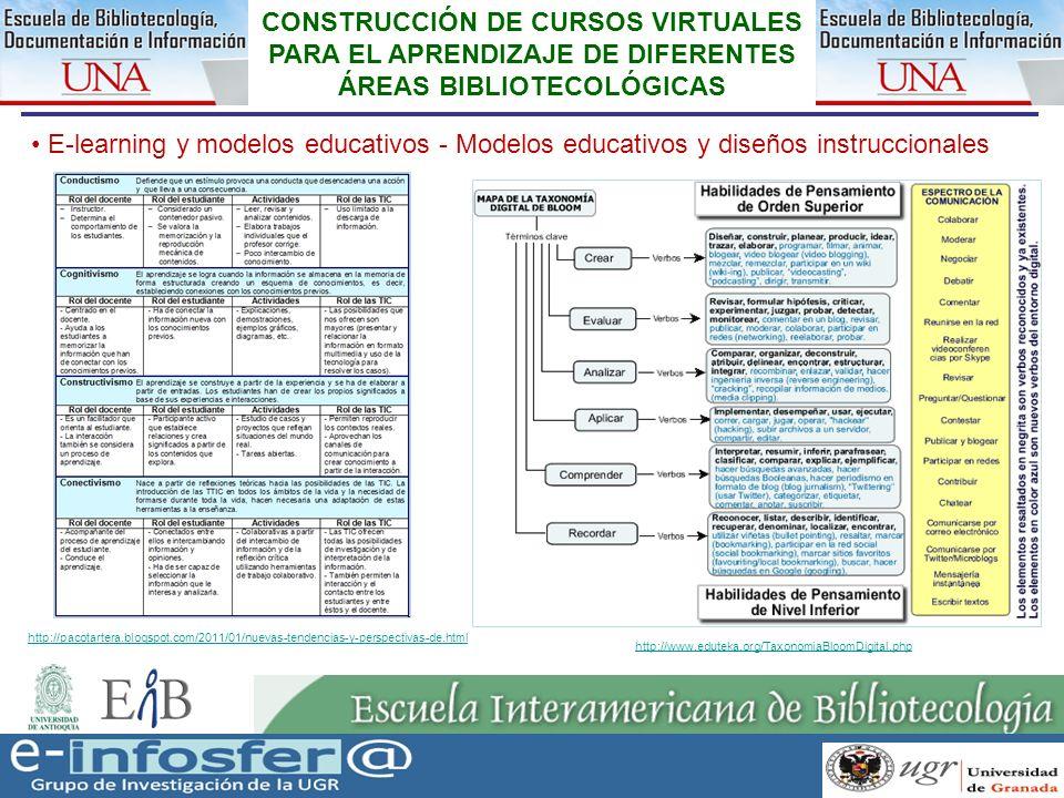 14 23-03-07 CONSTRUCCIÓN DE CURSOS VIRTUALES PARA EL APRENDIZAJE DE DIFERENTES ÁREAS BIBLIOTECOLÓGICAS E-learning y modelos educativos - Modelos educa