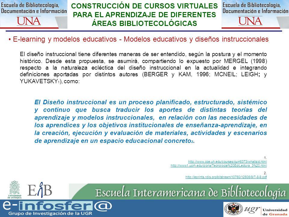 15 23-03-07 CONSTRUCCIÓN DE CURSOS VIRTUALES PARA EL APRENDIZAJE DE DIFERENTES ÁREAS BIBLIOTECOLÓGICAS E-learning y modelos educativos - Modelos educa
