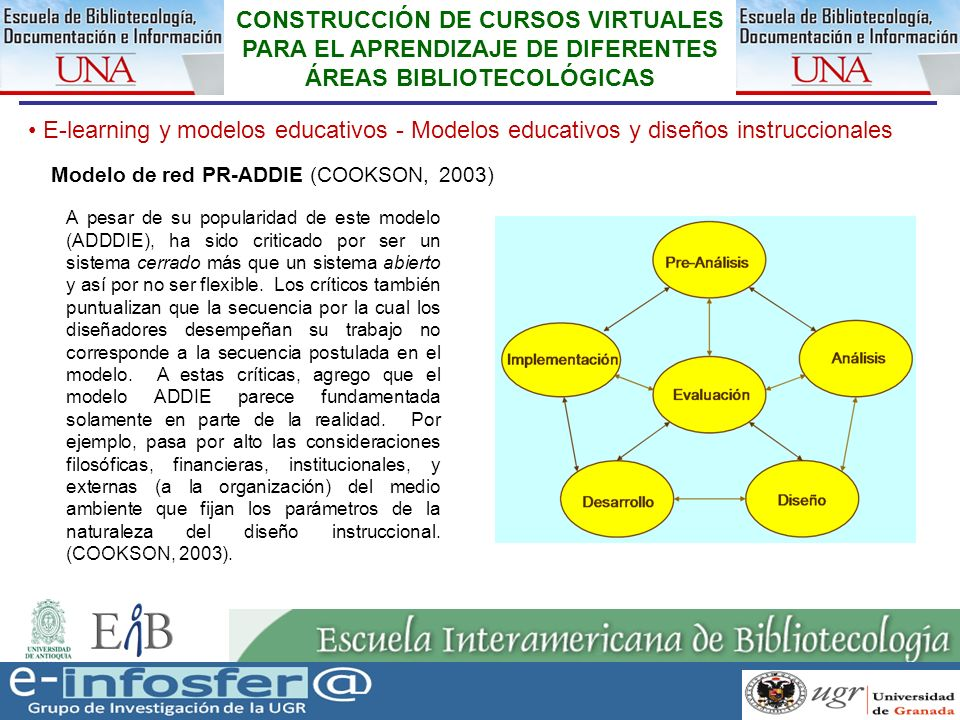 17 23-03-07 CONSTRUCCIÓN DE CURSOS VIRTUALES PARA EL APRENDIZAJE DE DIFERENTES ÁREAS BIBLIOTECOLÓGICAS E-learning y modelos educativos - Modelos educa