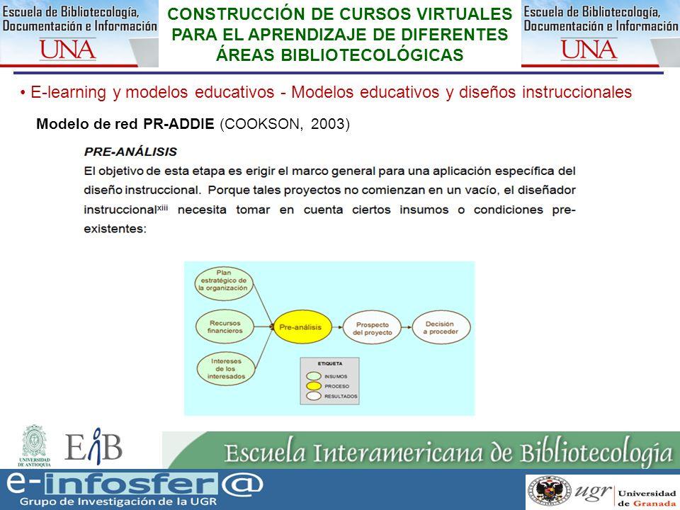 18 23-03-07 CONSTRUCCIÓN DE CURSOS VIRTUALES PARA EL APRENDIZAJE DE DIFERENTES ÁREAS BIBLIOTECOLÓGICAS E-learning y modelos educativos - Modelos educa