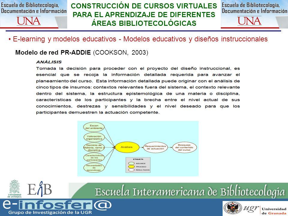 19 23-03-07 CONSTRUCCIÓN DE CURSOS VIRTUALES PARA EL APRENDIZAJE DE DIFERENTES ÁREAS BIBLIOTECOLÓGICAS E-learning y modelos educativos - Modelos educa