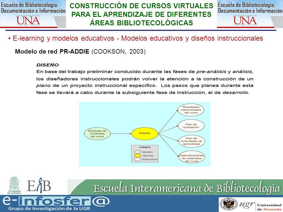 20 23-03-07 CONSTRUCCIÓN DE CURSOS VIRTUALES PARA EL APRENDIZAJE DE DIFERENTES ÁREAS BIBLIOTECOLÓGICAS E-learning y modelos educativos - Modelos educa