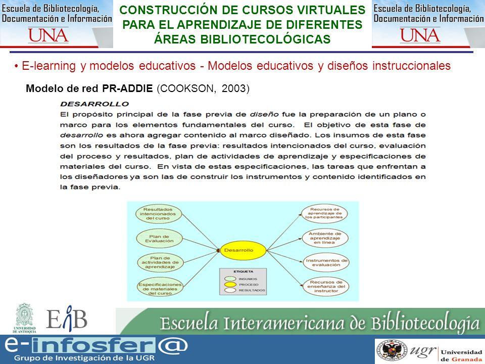 21 23-03-07 CONSTRUCCIÓN DE CURSOS VIRTUALES PARA EL APRENDIZAJE DE DIFERENTES ÁREAS BIBLIOTECOLÓGICAS E-learning y modelos educativos - Modelos educa