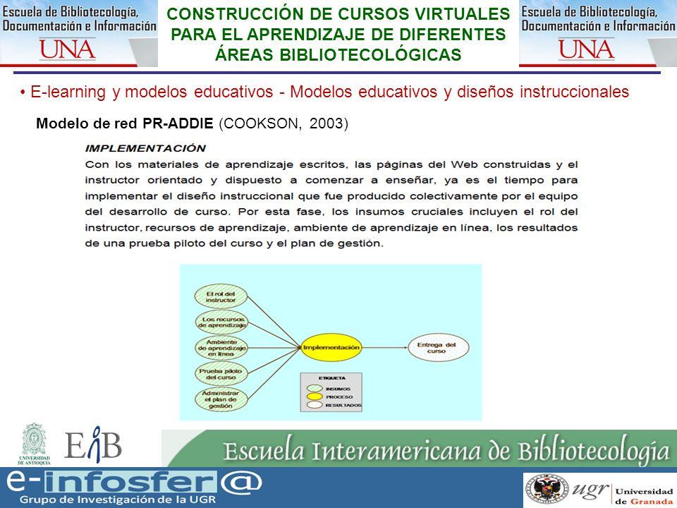 22 23-03-07 CONSTRUCCIÓN DE CURSOS VIRTUALES PARA EL APRENDIZAJE DE DIFERENTES ÁREAS BIBLIOTECOLÓGICAS E-learning y modelos educativos - Modelos educa
