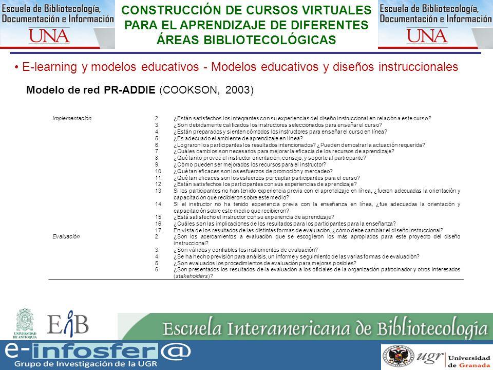 25 23-03-07 CONSTRUCCIÓN DE CURSOS VIRTUALES PARA EL APRENDIZAJE DE DIFERENTES ÁREAS BIBLIOTECOLÓGICAS E-learning y modelos educativos - Modelos educa