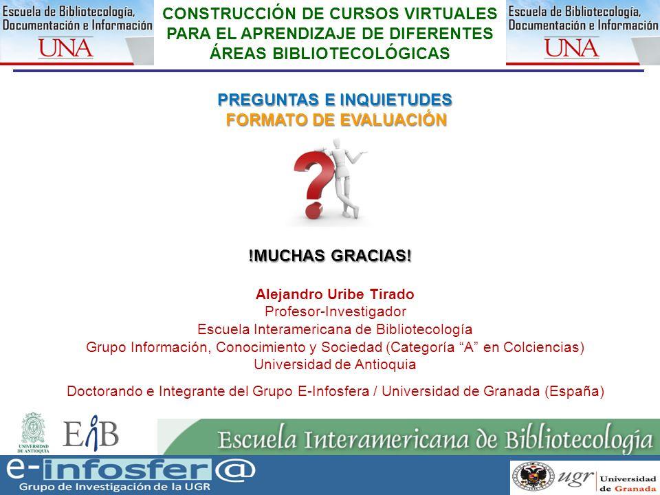 31 23-03-07 31 Alejandro Uribe Tirado Profesor-Investigador Escuela Interamericana de Bibliotecología Grupo Información, Conocimiento y Sociedad (Cate