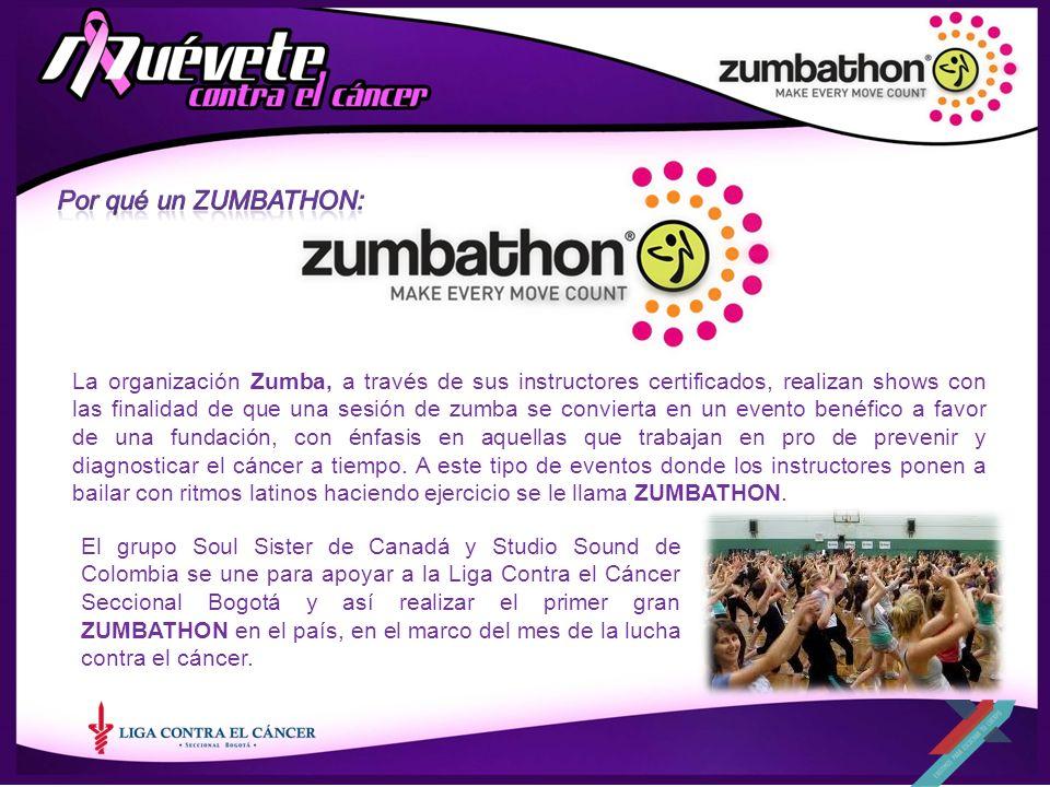 La organización Zumba, a través de sus instructores certificados, realizan shows con las finalidad de que una sesión de zumba se convierta en un event