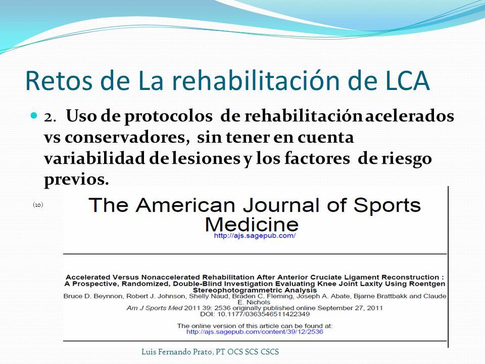 Retos de La rehabilitación de LCA 2.