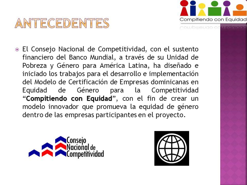 Compitiendo con Equidad El Consejo Nacional de Competitividad, con el sustento financiero del Banco Mundial, a través de su Unidad de Pobreza y Género