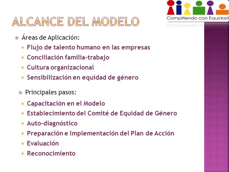 Flujo de talento humano en las empresas Conciliación familia-trabajo Cultura organizacional Sensibilización en equidad de género Capacitación en el Mo