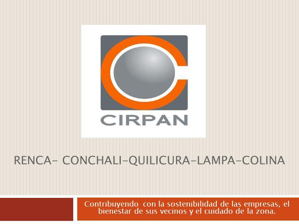 RENCA- CONCHALI-QUILICURA-LAMPA-COLINA Contribuyendo con la sostenibilidad de las empresas, el bienestar de sus vecinos y el cuidado de la zona.