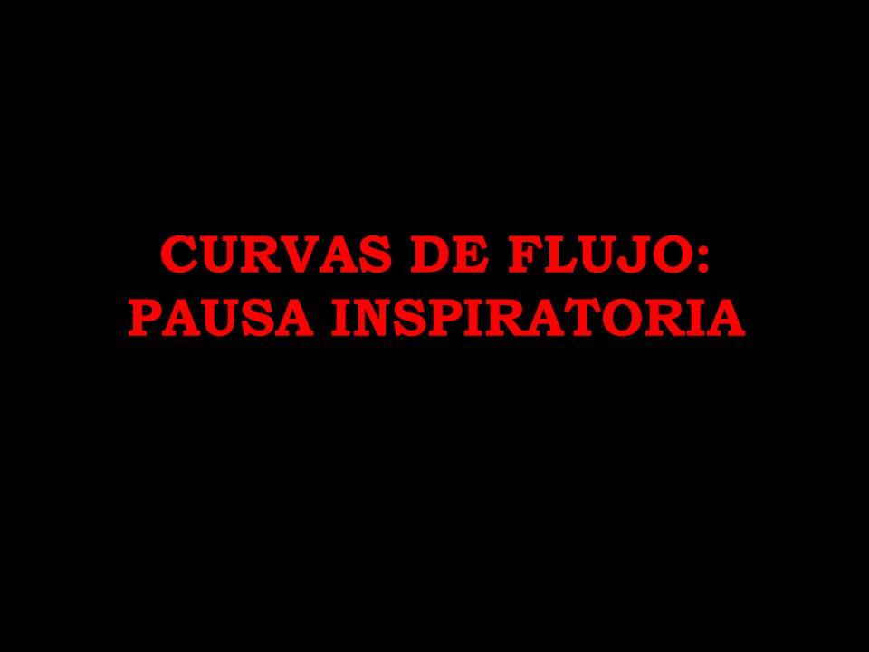 CURVAS DE FLUJO: PAUSA INSPIRATORIA