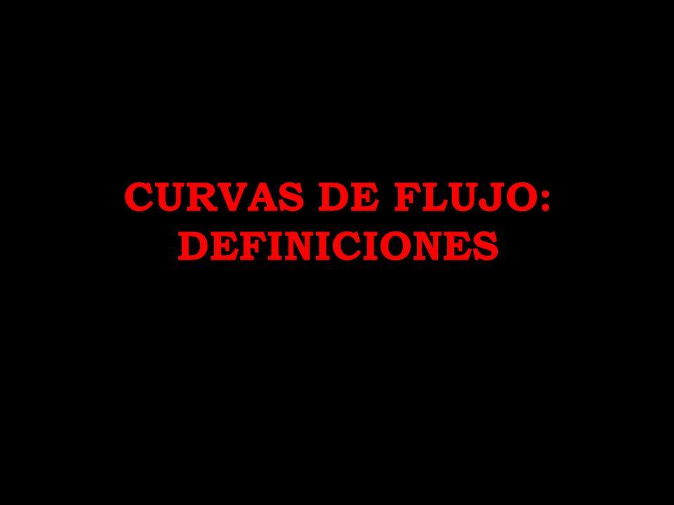 CURVAS DE FLUJO: DEFINICIONES