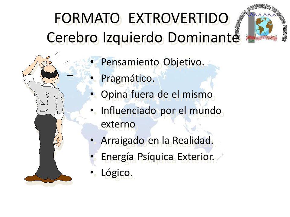 FORMATO EXTROVERTIDO Cerebro Izquierdo Dominante Verbalmente Creativo.