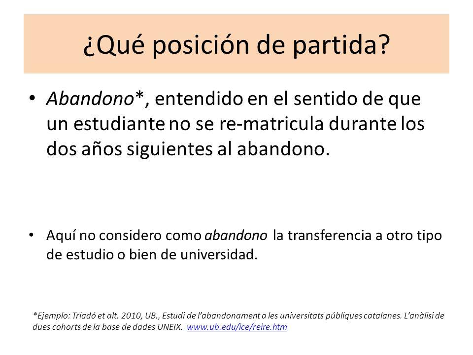 Premisas… Se inscribe en un triple discurso: - el de la calidad universitaria (indicador de la misma), -el de la equidad (justicia).