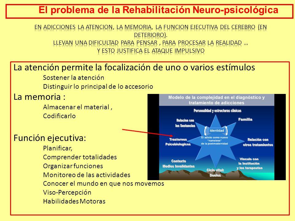 La atención permite la focalización de uno o varios estímulos Sostener la atención Distinguir lo principal de lo accesorio La memoria : Almacenar el m