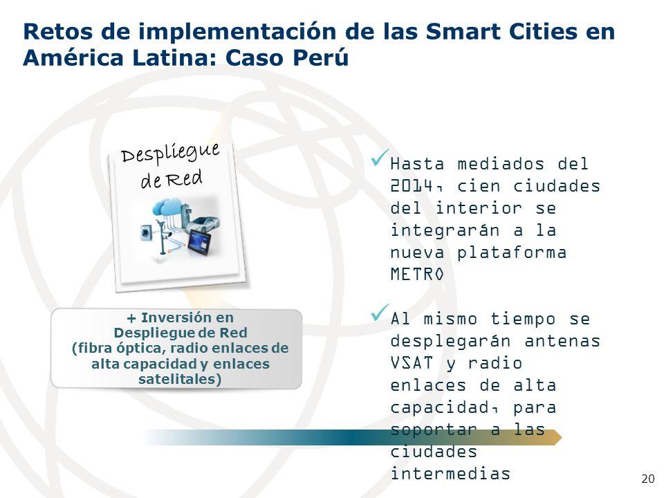 Población urbana: 22.688.000 hab. Gasto público promedio (% PIB): 17,40% Datos Generales* Mayores Ciudades en Perú: 1 Lima-Callao 8.472.935 hab. Lima