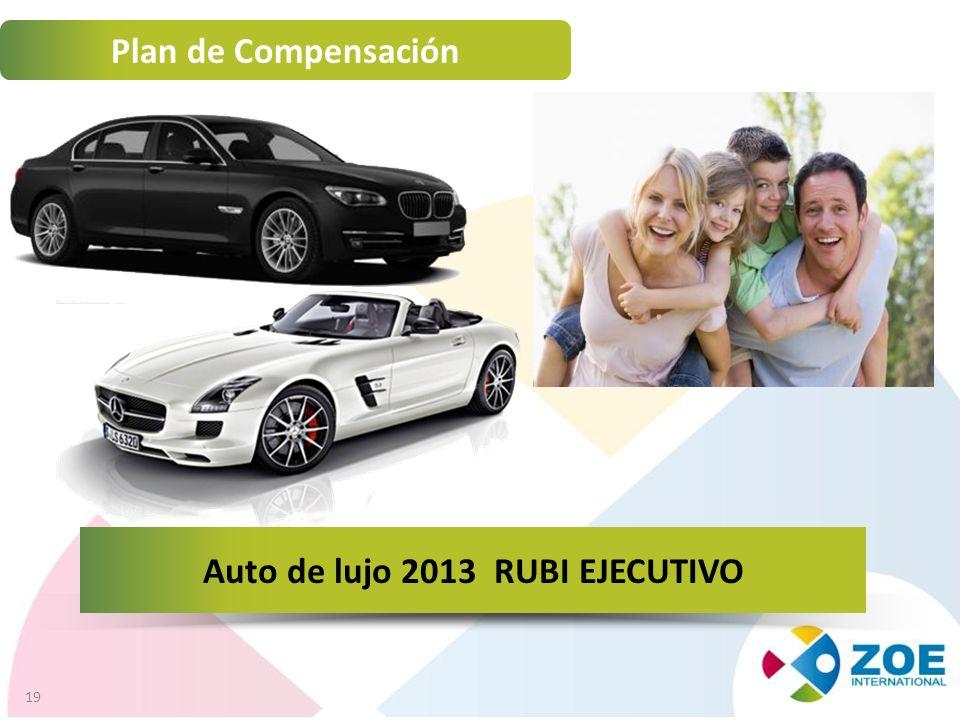 19 Plan de Compensación Auto de lujo 2013 RUBI EJECUTIVO