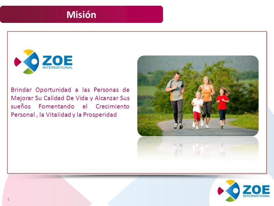 Misión 4 Brindar Oportunidad a las Personas de Mejorar Su Calidad De Vida y Alcanzar Sus sueños Fomentando el Crecimiento Personal, la Vitalidad y la