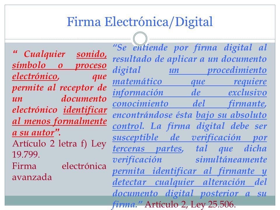 El Documento Electrónico/Digital Toda representación de un hecho, imagen o idea que sea creada, enviada, comunicada o recibida por medios electrónicos
