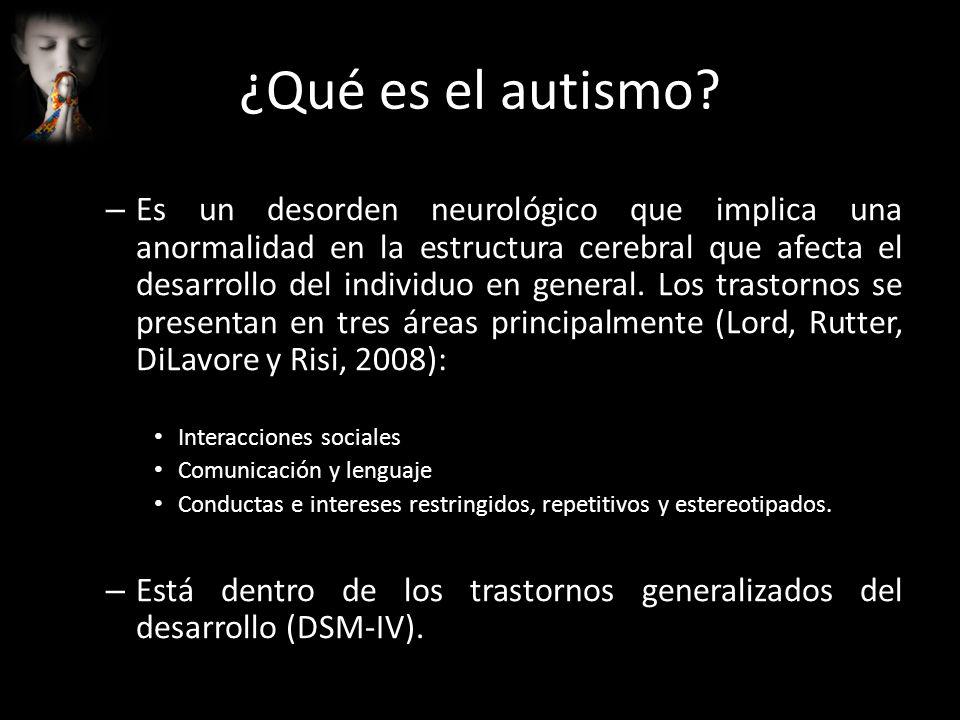 ¿Qué es el autismo? – Es un desorden neurológico que implica una anormalidad en la estructura cerebral que afecta el desarrollo del individuo en gener