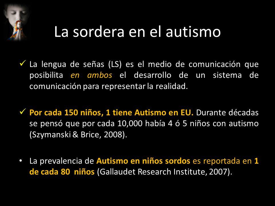 La lengua de señas (LS) es el medio de comunicación que posibilita en ambos el desarrollo de un sistema de comunicación para representar la realidad.