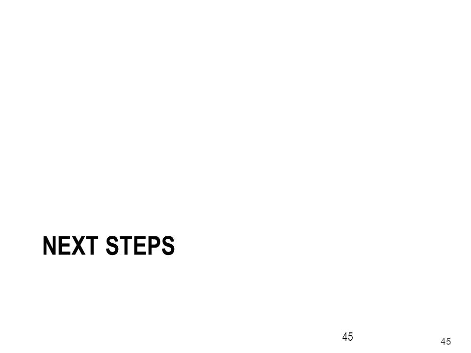 45 NEXT STEPS 45