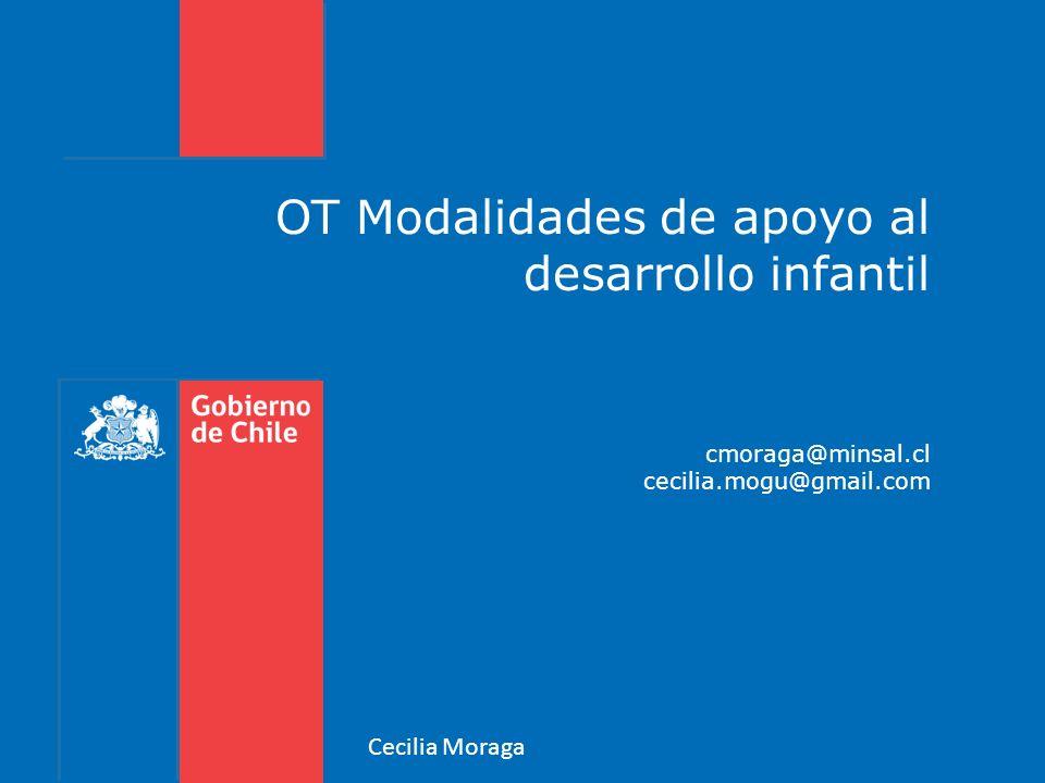 OT Modalidades de apoyo al desarrollo infantil cmoraga@minsal.cl cecilia.mogu@gmail.com Cecilia Moraga