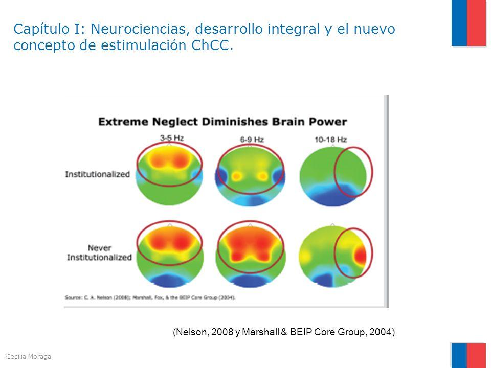 Capítulo I: Neurociencias, desarrollo integral y el nuevo concepto de estimulación ChCC. (Nelson, 2008 y Marshall & BEIP Core Group, 2004) Cecilia Mor